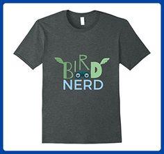 Mens Bird Nerd T-shirt for Birding and Ornithology Large Dark Heather - Animal shirts (*Amazon Partner-Link)