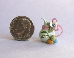Handmade Miniature  PETITE EASTER PITCHER  - OOAK by C. Rohal #CRohal