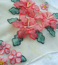 Vh Embroidery Sampler, Beaded Embroidery, Asiatic Lilies, Crochet Flowers, Elsa, Lily, Knitting, Couture, Giant Paper Flowers