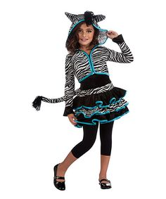Look at this Black & White Zebra Dress-Up Set - Kids on #zulily today!