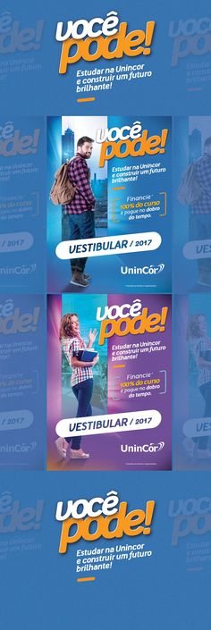 Campanha Vestibular on Behance