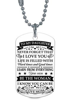 1e184347673 Beautiful To My Daughter Necklace From Mom - Best Gift for Birthday