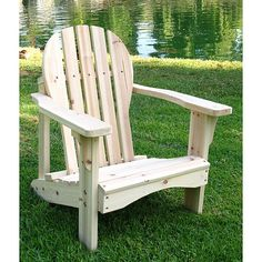 ---  - Chair is unfinished. - Rust-resistant hardware. - The chair measures 21 inches wide x 18.75 inches deep x 22 inches high.