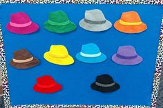 I was inspired by Jbrary's post about Little Mouse, Little Mouse Renditions to make my hats, cats, and bats. Pete The Cats, Puff Paint, Flannel Friday, Flannel Boards, Sequencing Activities, Making 10, Finger Puppets, Hungry Caterpillar, Felt Fabric