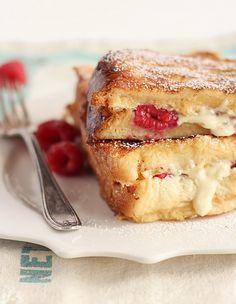 White Chocolate & Raspberry Brioche French Toast