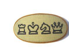 Chess modern cross stitch pattern by wallwork on Etsy, $4.50