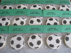 SOCCER BALL COOKIES PACKAGED | Flickr - Photo Sharing!