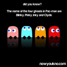So, I hear that Clyde is my name but I could have swore it was Japanese Ghost. Video Game Facts, Video Games, Pac Man Party, 33rd Birthday, Good Ole, Quote Posters, Laugh Out Loud, Nerd, Geek Stuff