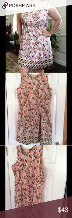 Peach Hues Aztec Dress PERFECTION for summer events Speed Control Dresses