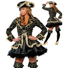 3d6e46568cefcb Sexy women cosplay Party costumes Deluxe Pirate Costume Adult cosplay  halloween fantasias costumes for womeninstyles with hat-in Movie & TV  costumes from ...