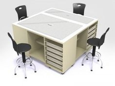 Quilt Magazine   Quilt Magazine » Blog Archive » S67484 Four-Station Cutting Table by Sew Brite