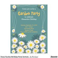 Shop Daisy Garden Birthday Party Invitation 2 created by Ruxique. Birthday Party Invitations, Birthday Cards, Birthday Parties, Garden Birthday, Party Garden, Garden Wedding, Garden Bridal Showers, Bridal Shower Party, Zazzle Invitations