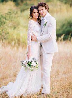 Nikki Reed and Ian Somerhalder. Wedding Day