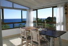 Der wunderschöne Wintergarten - S'Almunia Lounge Ferienwohnung in Cala S'Almunia (Santanyi, Malllorca, Spanien, Mittelmeer)