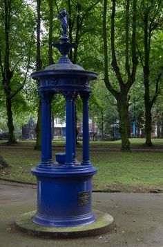 The colourful late Victorian water fountain in London's St Pancras' Gardens, near Kings Cross station