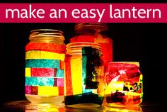 Make an easy lantern with your kids!  This was one of the easiest activities we've done and a favourite