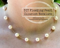 DIY Floating Pearl Illusion Necklace