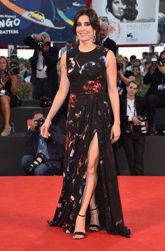 Nadine Labaki wears ELIE SAAB Ready-to-Wear Fall Winter 2014-15 to the 'La Rancon De La Gloire' premiere during the 71st Venice Film Festival in Italy.