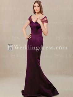 Elegant Bridesmaid Dress with Sheer Cap Sleeves BR408 #wedding #bridesmaids