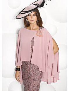 Cabotine 5006738 Lace Effect Dress With Chiffon Top Pink size 22 Dresses 👗 Plus Size Lace Dress, Size 22 Dresses, Mother Of The Bride Dresses Long, Mother Of Bride Outfits, Mother Bride, Wedding Outfits Uk, Coco Fashion, Dress Fashion, Fashion Women