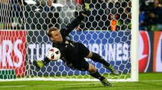 Goalkeeper Manuel Neuer of Germany saves the penalty at the penalty shootout during their UEFA EURO 2016 quarter final match against Italy