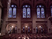 Inside the Basilica of Saint Mary, 1600 Hennepin, Minneapolis, Minnesota.
