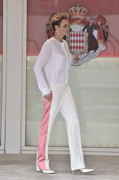 Pin for Later: If There Ever Was a Look of Royal Athleisure, Charlene of Monaco Just Wore It