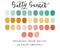 Graphic design and Affirmations by BrushAndBarley on Etsy Colour Pallette, Colour Schemes, Color Combos, Root Color, Custom Roman Shades, Color Stories, Color Swatches, Color Theory, Arabian Nights