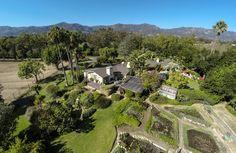 Oprah Winfrey's ranch house in Montecito, California