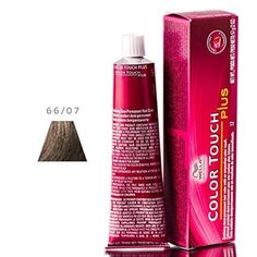 Wella Color Touch Plus Hair Color - 66/07 Intense Dark Blonde (Yellow) / Natural Brown
