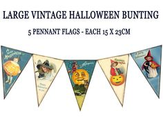 Halloween Banners What can banners be used for? Well, they are one of the biggest uses of attracting people and increasing popularity. Think of your party to be one of the best parties in the town on Halloween Bunting, Retro Halloween, Halloween Photos, Fall Halloween, Halloween Crafts, Halloween Decorations, Halloween Party, Halloween Items, Vintage Fall