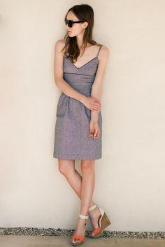 dresses & bright shoes