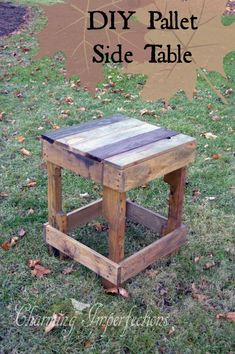 Pallet Side Table -