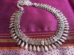 Hand  crafted oxidized necklace designed by Nnazaquat.