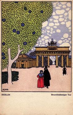 436. Franz Kuhn - Wiener Werkstatte postcard