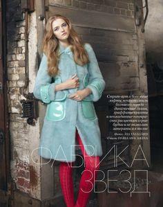 magazine-photoshoot : Vlada Roslyakova Elle Russia Magazine Photoshoot February 2014 HQ Pictures