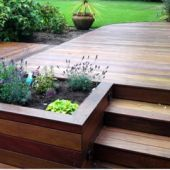 You could add a bed to the deck if side beds aren't enough.. and change it to a sandpit later!