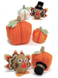 Plastic Canvas - Holiday & Seasonal Patterns - Thanksgiving Patterns - Amigurumi Fall Decor
