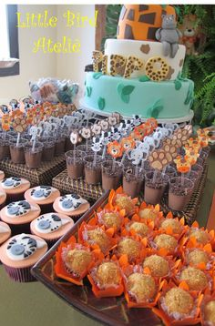 Os detalhes de uma linda festinha com o tema Safari! http://littlebirdatelie.blogspot.com.br