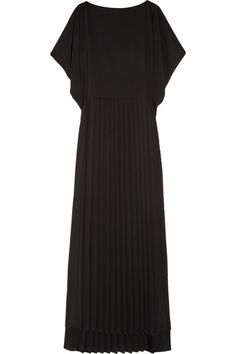 Maison Martin Margiela Pleated crepe-jersey maxi dress - 50% Off Now at THE OUTNET