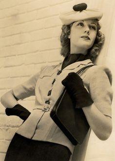 Anita Louise - rocking a tam hat.