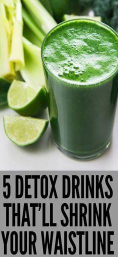 5 Detox Drinks That'll Shrink your Waistline!