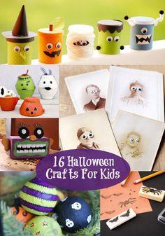 16 Easy Halloween Crafts For Kids - diycandy.com