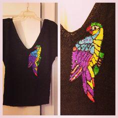 embellished parrot top