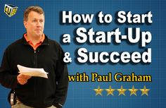Thinking about starting a business and becoming an entrepreneur? Everything you need to know on How to Start a Startup and Succeed with Paul Graham Paul Graham, Success Video, Reading Quotes, Learning Centers, App Development, Starting A Business, How To Get, Thoughts, Education