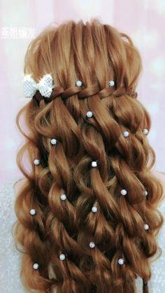 Sin los adornos Hairdo For Long Hair, Bun Hairstyles For Long Hair, Bride Hairstyles, Headband Hairstyles, Cute Hairstyles, Hairstyle Braid, Heatless Hairstyles, Kawaii Hairstyles, Beautiful Hairstyles