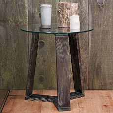 Ion Glass Round Side Table