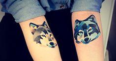 Tatuagens Geométricas | Lobos no Braço