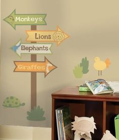 Zoo Signs Peel and Stick Giant Wall Decal
