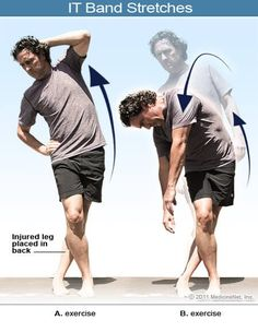 Pictures of stretches for IT band syndrome
